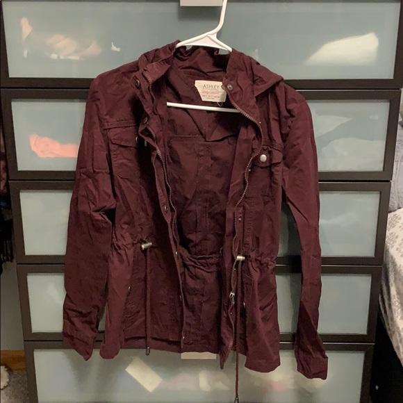 Ashley By 26 International Jackets & Blazers - Ashley by 26 international maroon fall/spring coat